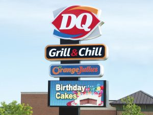 Nashville Lighted Signs 0092 Dairy Queen Bendsen Sign  Graphics W 19mm 80x176 Bloomington IL 101718 1 300x225