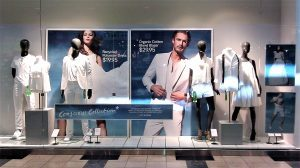 promotional retail window display