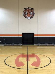 custom vinyl signs and graphics school basketball court