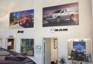 custom indoor lobby signage
