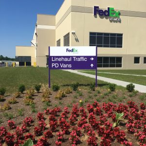 FedEx Custom Business Signage Panel Sign Channel Letters