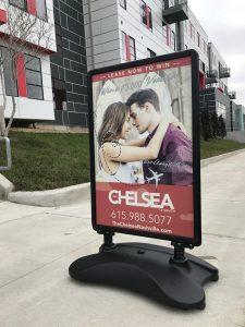 Custom a-frame promotional signage